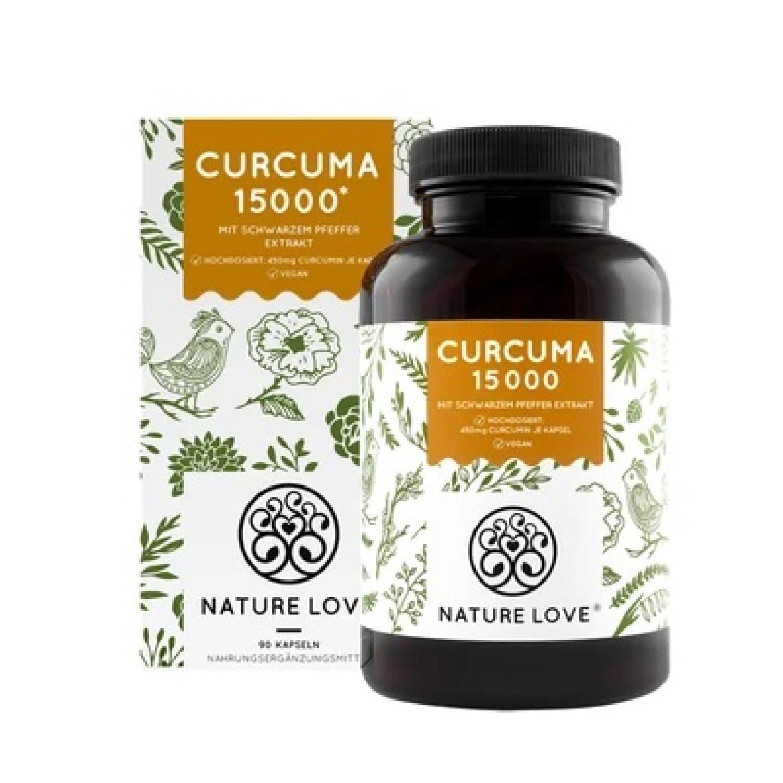 Curcuma 15.000 – 90 Kapseln mit 450 mg Curcumin pro Kapsel