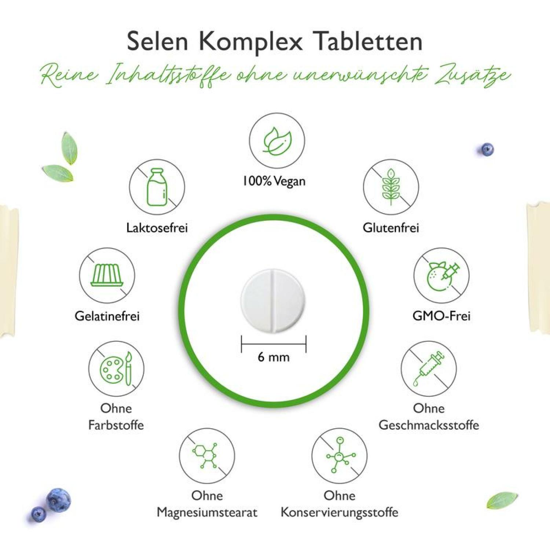 Selen 3-fach Komplex - 365 Tabletten mit je 200 µg