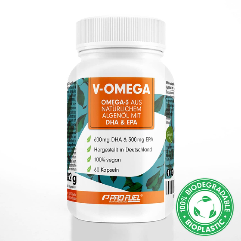 V-OMEGA   Omega-3   EPA & DHA   60 Algenöl-Kapseln